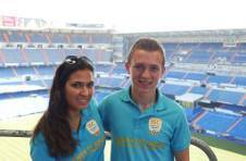 Thumbnail ISC campers at Real Madrid Santiago Bernabeú stadium