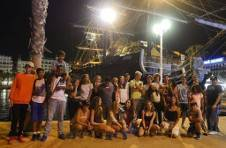 Thumbnail students visiting Alicante port on the summer camp