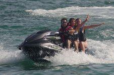 Thumbnail ISC students on a jet-ski ride