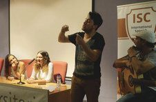 Thumbnail Flamenco singer giving music lessons to students