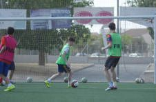 Thumbnail football match between international students at the camp in Spain