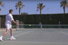 Thumbnail international students training on our Alicante tennis courts