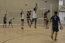 Thumbnail volleyball training with International players