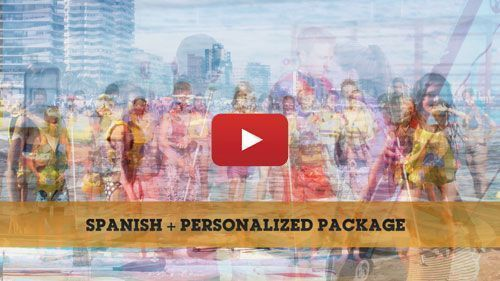 Spanish + Personalised package camp video