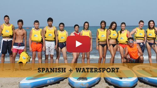 Spanish + Water sports camp video